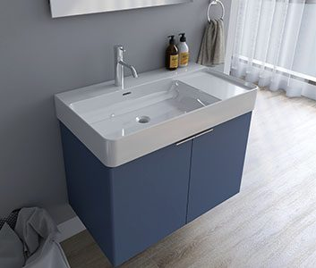 Furniture cabinets with basins