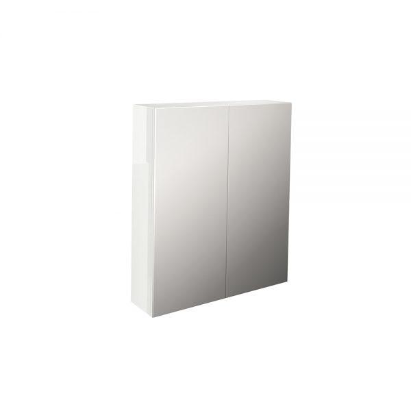 Echo single drawer 600x700 mirror cabinet in white gloss